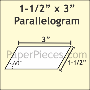"1 1/2"" x 3"" 60 Degree Parallelogram, 50 Pieces"