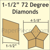 "1 1/2"" 72-Degree Diamonds, 66 Pieces"