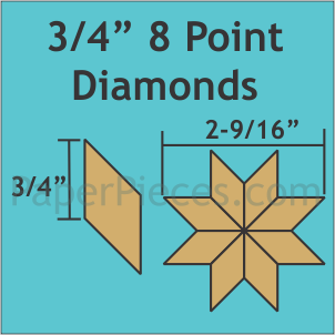 "3/4"" 8-Point Diamonds,"