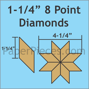 "1 1/4""8-Point Diamonds, 126 Pieces"