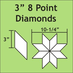 "3"" 8-Point Diamonds, 50 Pieces"
