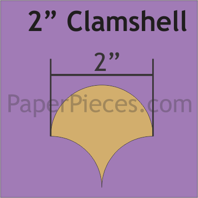 "2"" Clamshell, 68 Pieces"