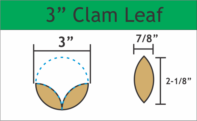"3"" Clam Leaves, 90 Pieces"