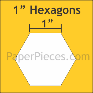"1"" Hexagon Large, 600 Pieces"