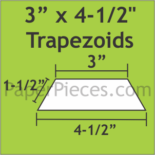 "3""x 4,5"" Trapezoid, 25 Pieces"