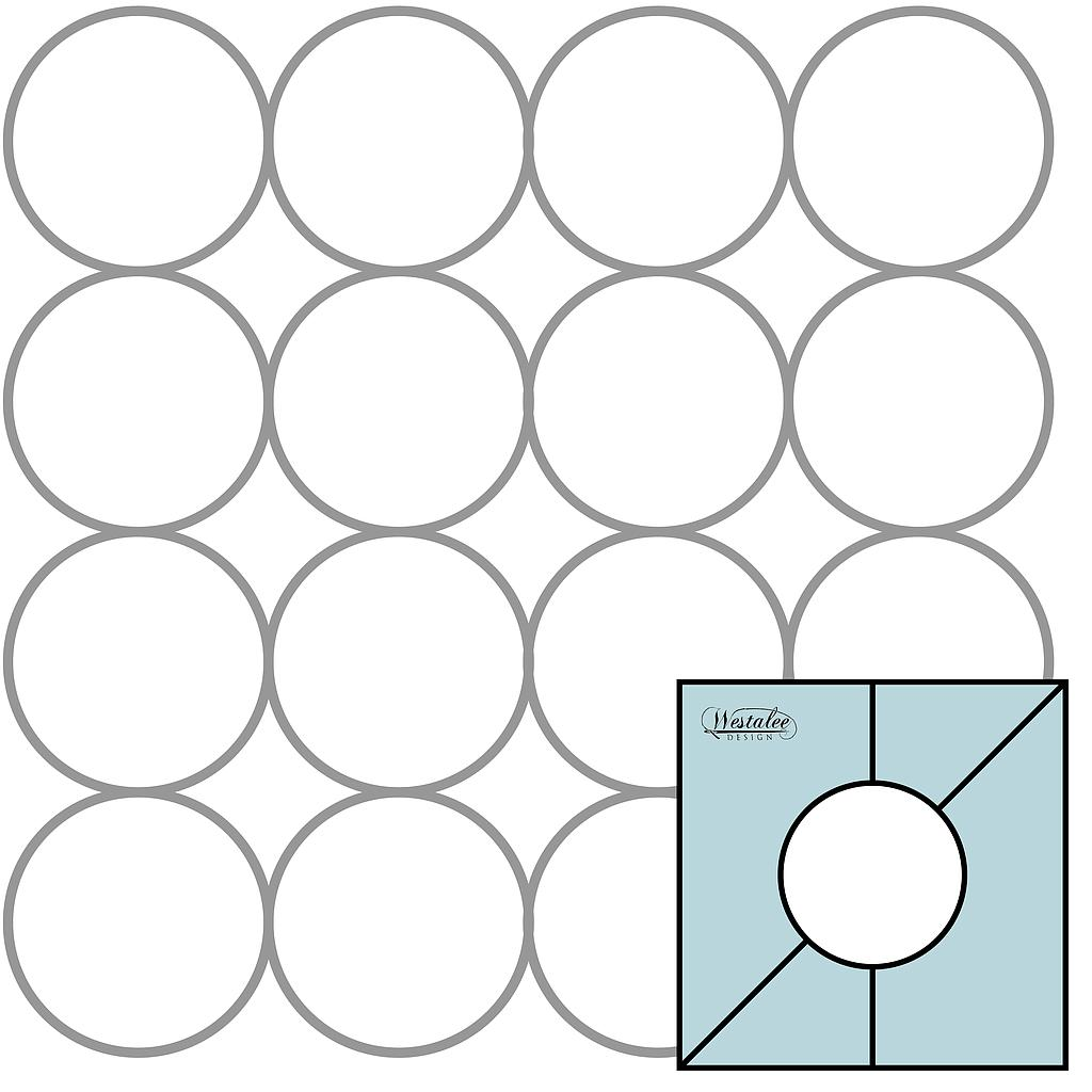 "4 pc Simple Circles Set 2 Includes 2.5"", 3"", 3.5"", 4"" High Shank (SCSET2)"